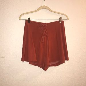 Blush Burnt Orange High Rise Shorts